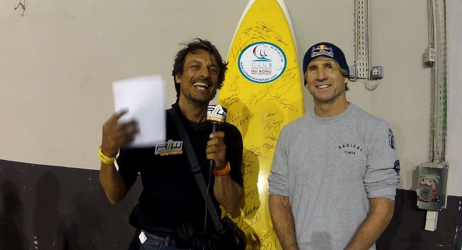 Nei backstages di Bercy con Robby Naish (2/2)