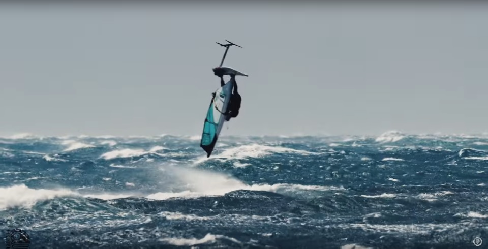 Windsurfing On The Foil In 50 Knots Of Wind Riwmag