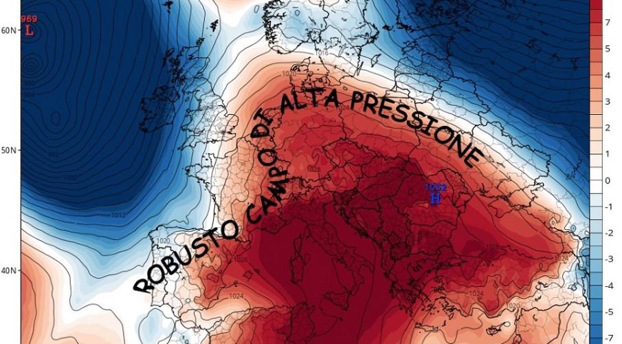 METEOEVENTI: L'ASSEDIO DELL'ALTA PRESSIONE